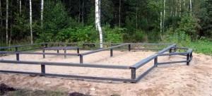 Свайно-винтовой фундамент для каркасного дома или дома из профилированного бруса