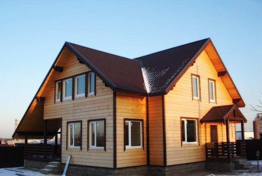 Каркасный дом декабрьский проект 65 м²